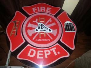 Fire Department Personalized and Colored